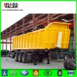 Remorque de tombereau du cylindre 30-60 Cbm de levage hydraulique de Hyva/à benne basculante de camion remorque latérale semi