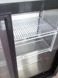Refrigerador de vidro do frasco da bebida da porta dois Slidng com controlador do termostato (DBQ-220LS2)