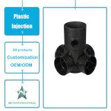 Kundenspezifische Plastikspritzen-Produkt-industrielle Teil-Plastikquerrohrfitting-Teile