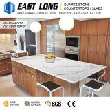 台所デザインまたは壁パネルまたは虚栄心の上のための高級なCalacatta Aartificialの水晶石のカウンタートップ