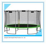 Trampolín al aire libre con el trampolín de salto interno de la red de seguridad
