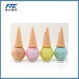 La forma del helado de uñas botella de esmalte botella de cristal vacía