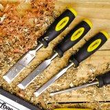 """la 1/4 """" di falegnameria lavora lo scalpello da legno d'acciaio 40cr con la maniglia di plastica"""