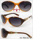 نساء نمو نظّارات شمس بلاستيكيّة مع معدن زخرفة ([وسب707958])