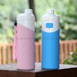 Складной спорт силикона Hiking бутылка воды Thermos