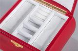 Caixa de jóia vermelha 245*200*154 do boleto do MDF