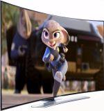 Nieuwe LEIDENE van het Scherm van het Ontwerp LCD Gebogen Nieuwe 55-duim Gebogen 4K TV van TV