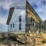 el vidrio del espejo de 6m m Temperable/cubrió el vidrio con respetuoso del medio ambiente para las construcciones