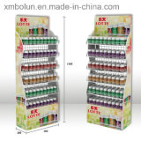 Kundenspezifischer gedruckter Kaugummi-Metallfußboden-Ausstellungsstand-Großverkauf