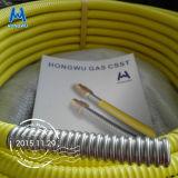 Linha de gás tubulação ondulada de Csst do gás do aço inoxidável