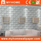 Panneau de mur 3D imperméable à l'eau durable Paintable bon marché et fin de la Chine de panneau de mur de PVC de décoration de mur intérieur