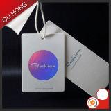 Etiqueta multicolora superficial brillante de la caída del nuevo diseño, etiqueta del oscilación