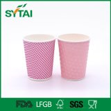Umweltfreundlicher preiswerter Kräuselung-Papiercup-heißer Großhandelswegwerfkaffee-Papiercup