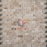 Striscia Beige Travertino mattonelle di mosaico (CFS843)