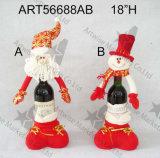 산타클로스 눈사람 술병 홀더 선물, 2 Asst 크리스마스 훈장