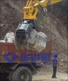 A madeira de giro hidráulica de Hyundai R200 luta