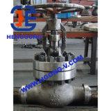 Valvola di globo ad alta pressione saldata dell'acciaio inossidabile di api/acciaio di getto