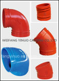 FM/UL/Ce Approval를 가진 던지기 Iron Grooved Fitting 45 Degree Elbow