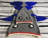 크로셰 뜨개질 상어 디자인 인어 테일 소파 담요
