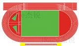 学校のスプレーのコートシステムゴム製実行で普及した競技場の格子縞トラックを追跡する