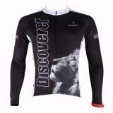 Куртка спортов покрывает львев Джерси длинней втулки людей Breathable быстро сухой задействуя черный
