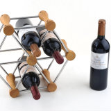 Botella de cerveza Tabletops Island Display Rack Soporte de vino Metal Wire Rack