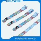 Tela barata do Wristband de matéria têxtil com o fechamento esperto preto