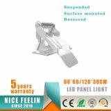 60*60/120*30/120*60cm suspendeu/luz montada/Recessed da superfície da instalação do diodo emissor de luz de painel