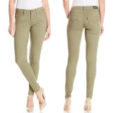 Pantalon 2017 maigre de Jean de denim de jeans de dames de mode d'usine