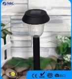 Schwarzes Plastiksolargarten-Stange-Licht