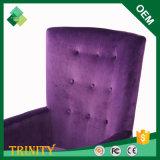 Silla púrpura loca creativa del precio bajo de la haya para el restaurante