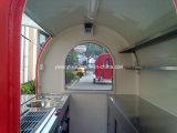 Modèle mobile rapide extérieur de chariot de kiosque de nourriture de rue à vendre