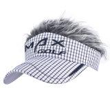 Casquillo de golf de encargo del béisbol del bordado 3D con el pelo