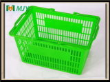 20 litres de supermarché de main de panier à provisions en plastique Mjy-Tb04