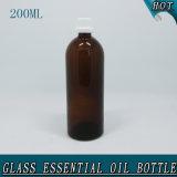 200ml nehmen bernsteinfarbige leere wesentliches Öl-Glasflaschen-Kronen-Schutzkappe ab