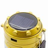Indicatore luminoso solare variopinto della lanterna del caricatore LED del USB per il campeggio esterno