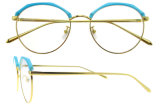 Blocco per grafici della Cina Eyewear di vetro di disegno dell'Italia degli occhiali di modo nuovo dei modelli rotondi del blocco per grafici