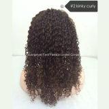Remy 긴 인간적인 인도 머리 가득 차있는 레이스 가발 150% 조밀도