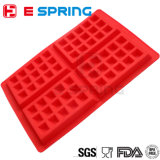 FDA China-LFGB Waffle nach Maß Knall-Form-Silikon-Backen-Kuchen-Form