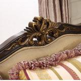 Strato tradizionale stabilito di Fabic del sofà di legno classico per il salone
