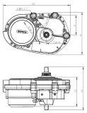 Nécessaire électrique de conversion de vélo de type de mode avec le MI moteur de 36V 250W Bafang