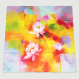 Lotos-Digital-Drucken-Silk quadratischer Schal