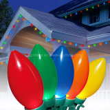 0.3-0.5W C7 C9 RGB 끈 옥외 LED 상업적인 크리스마스 불빛