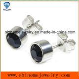 Черные каменные серьги ювелирных изделий стержня уха нержавеющей стали