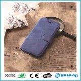 Rétro cas en cuir de chiquenaude de pochette pour Huawei