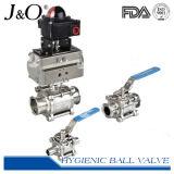 Válvula de bola de montaje directo 3PCS Sanitaria T-Clamp alta Ciclo