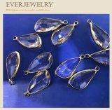 Accesorio pendiente cristalino de la joyería de la piedra de gema