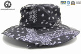 OEM Custom Cotton Twill Washed Fishing Bucket Hat avec poche