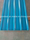 la anchura de 762 milímetros prepintó PPGL acanalado coloreado PPGI para el material para techos del metal