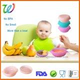 Het Voeden van het Voedsel van de Peuter van de Baby van de premie de Kom van het Silicone met Deksel